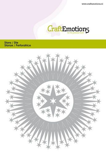 Craft Emotions- Die- Border rond Magic Stars Card: 115633/0519