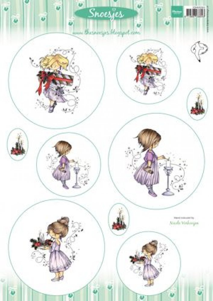 Marianne Design, A4 topper vel Snoesjes Celebrating Christmas: 3dHM064