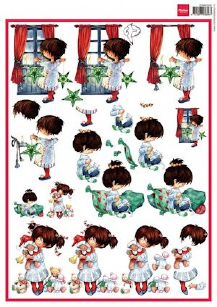 Marianne Design, A4 knipvel Snoesjes- Cosy Christmas: 3dHM066