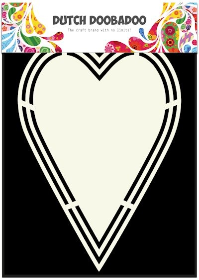 Dutch Doobadoo- Shape Art A5- Heart Tag: 470.713.153