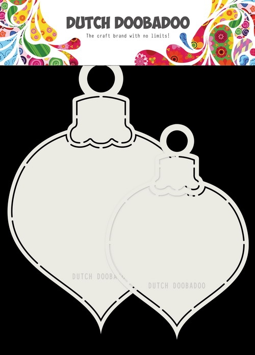DDBD- Dutch Shape Art 2x kerstballen- max 13 x 19 cm cm : 470.713.721