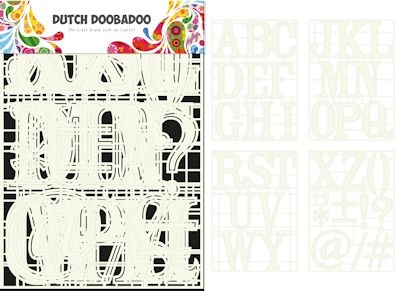 Dutch Doobadoo- Stencil Art A-Z: 470.715.820