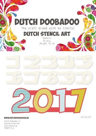 Dutch Doobadoo- Stencil Art Numbers: 470.990.100