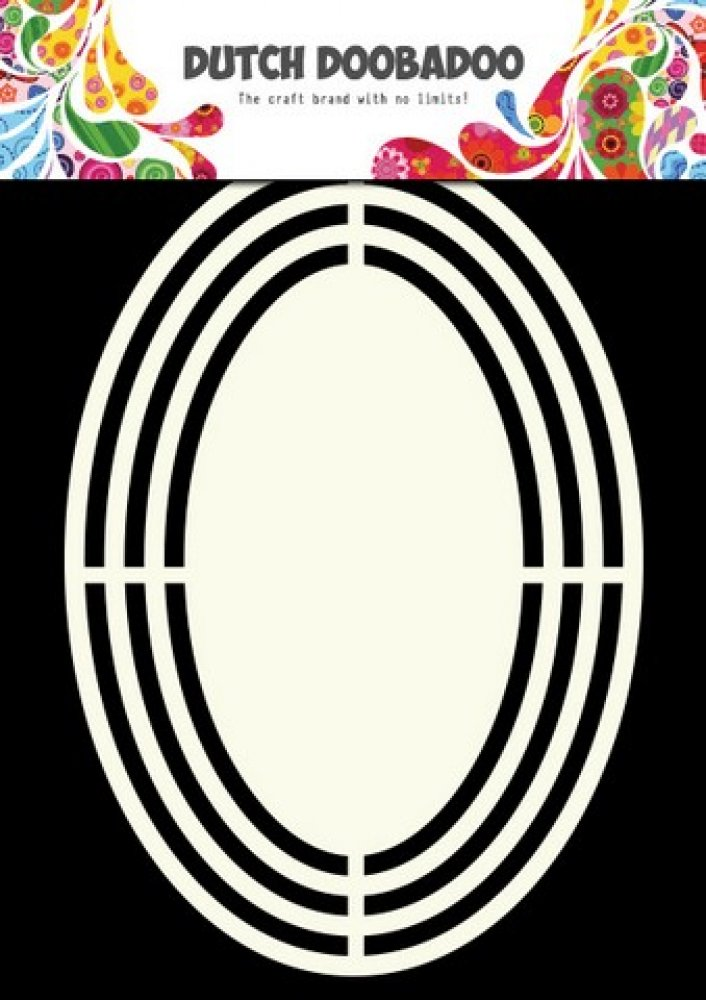 Dutch Doobadoo- Shape Art- Frames Oval A5: 470.713.120