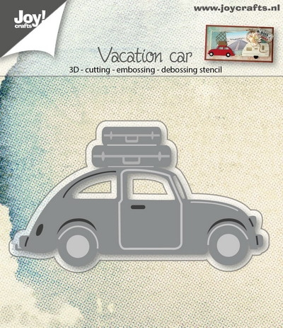 Joy- Stans embossing stencil- 3D auto VW met koffers: 6002/0677