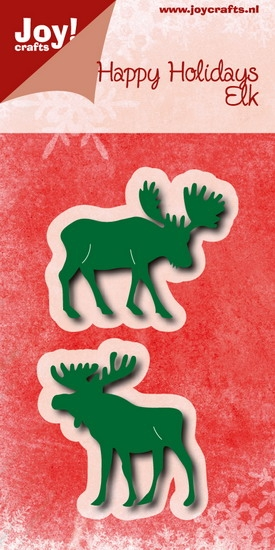 Joy-Stencil- Happy holidays- Elanden: 6002/0778