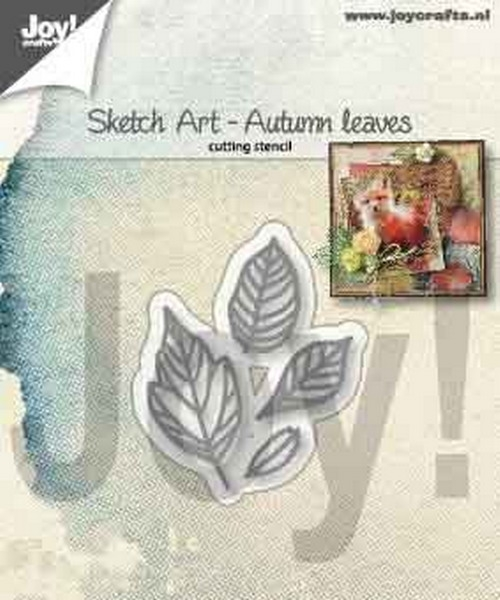 Joy- Stencil- Sketch art herfst bladeren: 6002/1356