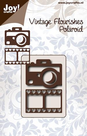 Joy- Vintage Flourishes- Camera met filmstrip hart : 6003/0067