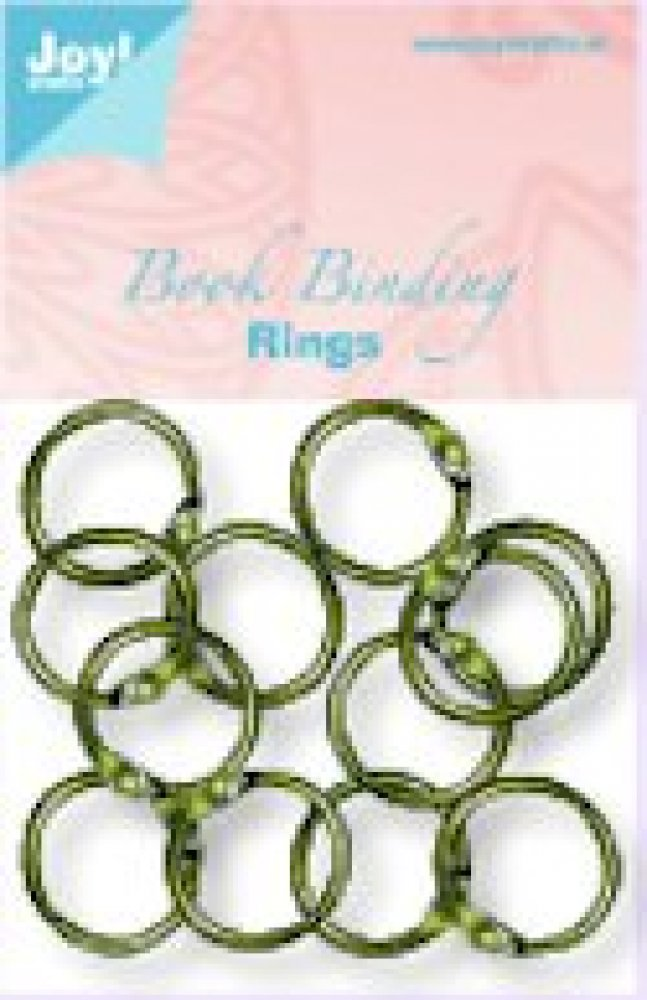 Metalen click ringen 25 mm (12) copper: 6200/0130