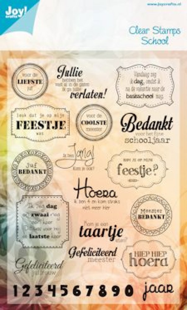 clearstamp tekst school: 6410/0082