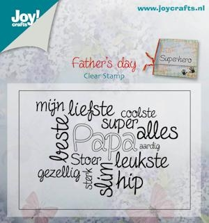 Joy- Clearstamp- Vaderdag teksten papa: 6410/0408