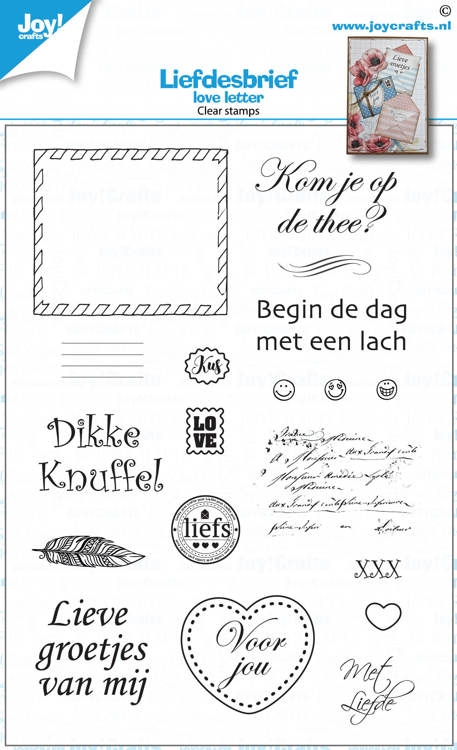 Joy- clear Stempel- Loveletters: 6410/0538