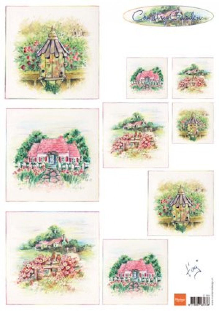 Marianne design A4 knipvel Tiny`s country garden 1: IT0564