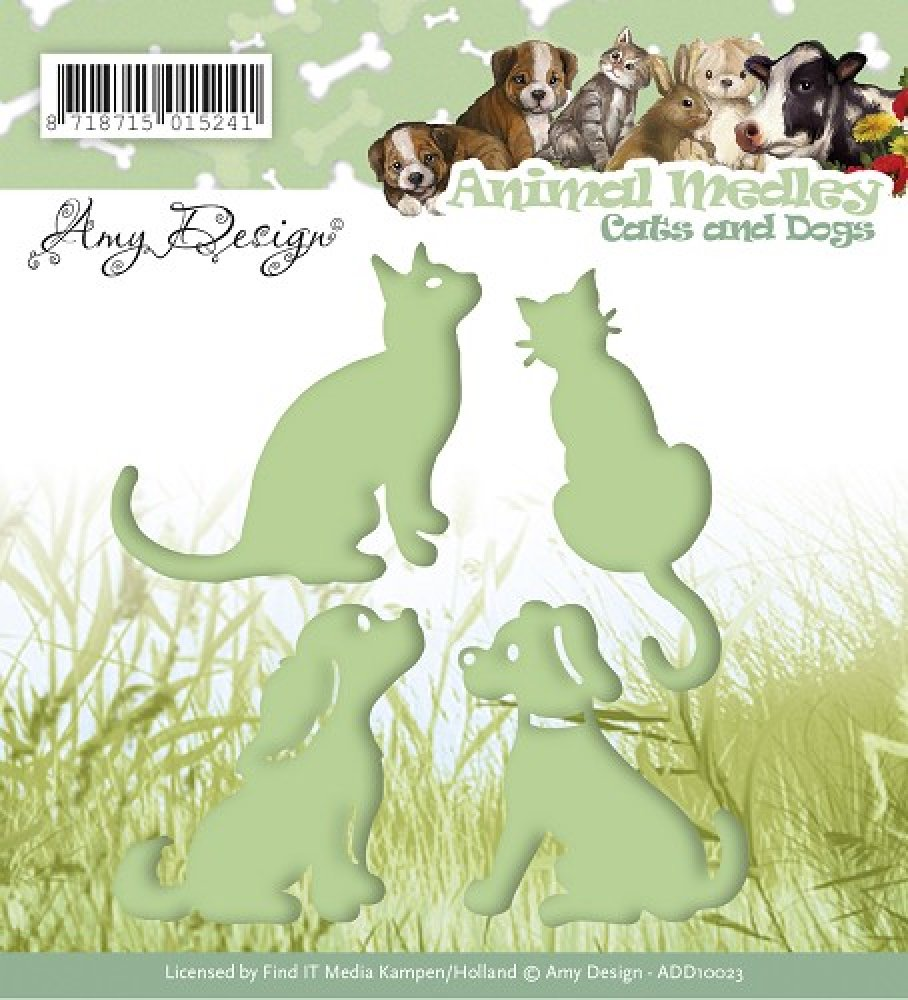 Amy Design- Die- Cats and Dogs: ADD10023