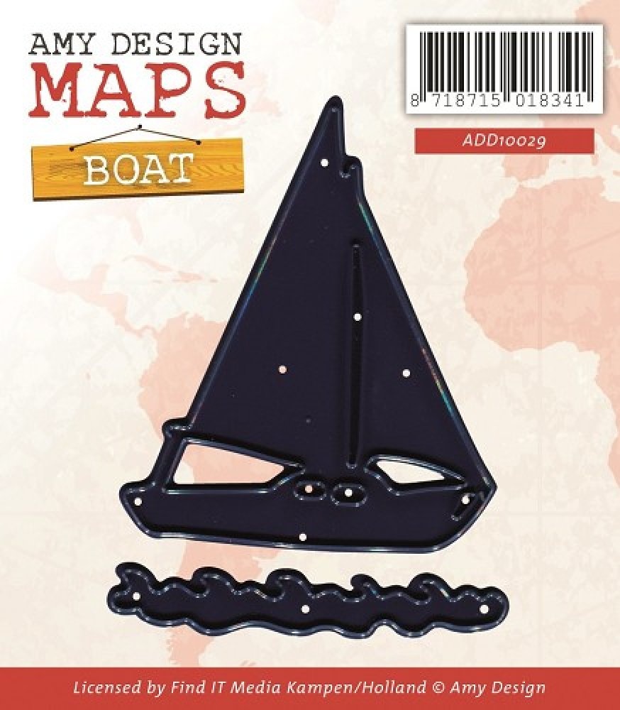 Amy Design- Die - Maps - Boat: ADD10029