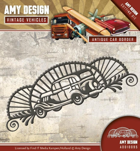 Amy Design- Die- Vintage Vehicles- Antique Car Border: ADD10095