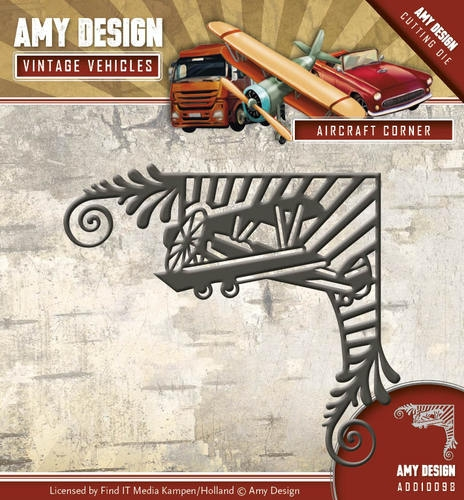 Amy Design- Die- Vintage Vehicles- Aircraft Corner: ADD10098