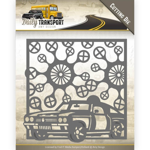 Amy Design- Dies- Daily Transport-  Car Frame: ADD10127