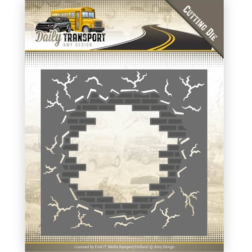 Amy Design- Dies- Daily Transport-  Brick in the Wall: ADD10128