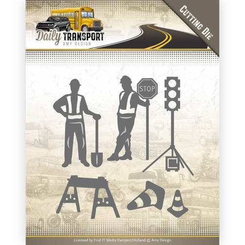 Amy Design- Dies- Daily Transport-  Road Construction: ADD10130