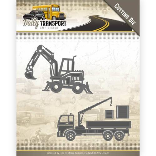 Amy Design- Dies- Daily Transport-  Construction Vehicles: ADD10133