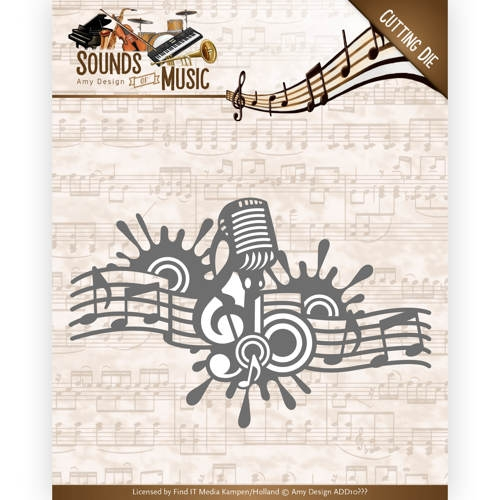 Amy Design- Die- Sounds of Music- Music Border: ADD10137
