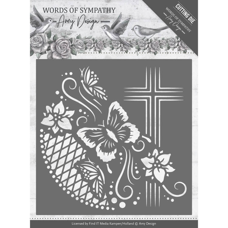 Amy Design- Dies- Words of Sympathy Cross Frame: ADD10154