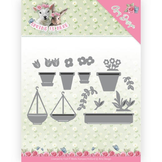 Amy Design- Dies- Flowerpots: ADD10169
