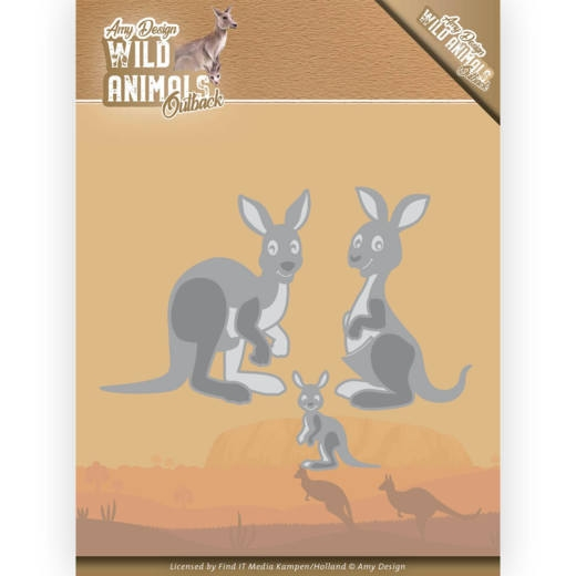 Amy Design- Dies- Wild Animals Outback- Kangaroo: ADD10209