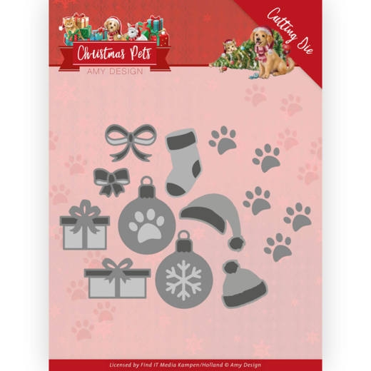 Amy Design- Dies- Christmas Pets- Christmas Decorations: ADD10215