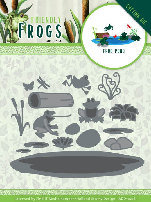 Amy Design- Dies- Friendly Frogs- Frog Pond: ADD10228