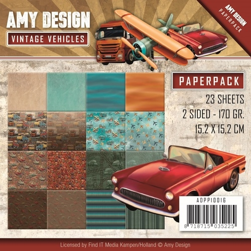 Amy Design- Paperpack- Vintage Vehicles- Cars: ADPP10016