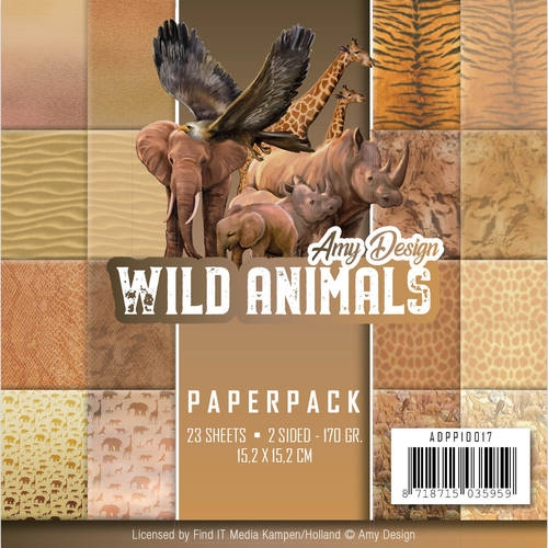 Amy Design- paperpack- Wild Animals: ADPP10017