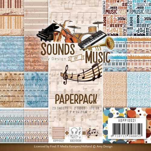 Amy Design- Paperpack- Sounds of Music: ADPP10021