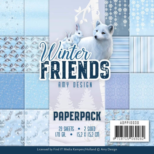 Amy Design- Paperpack- Winter Friends: ADPP10030