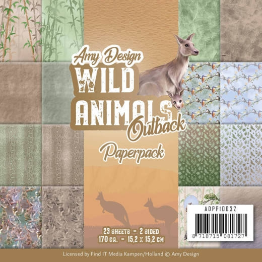 Amy Design- Paperpack- Wild Animals Outback: ADPP10032