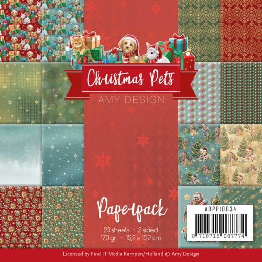 Amy Design- Paperpack- Christmas Pets: ADPP10034