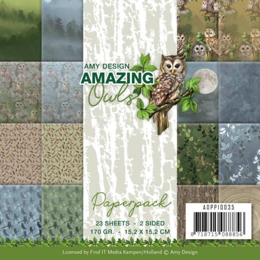 Amy Design- Paperpack- Amazing Owls: ADPP10035