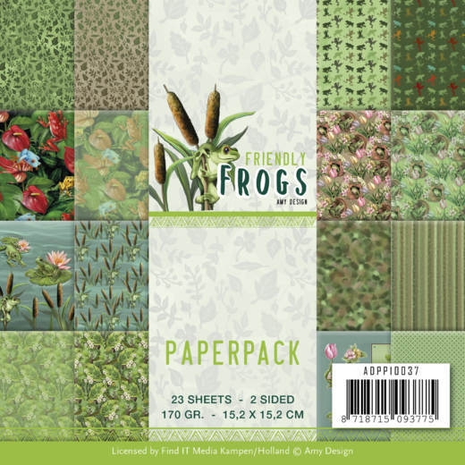 Amy Design- Paperpack- Friendly Frogs: ADPP10037