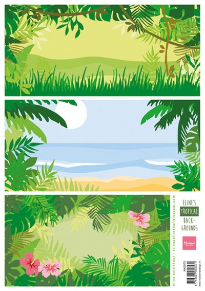 Marianne Design- Knipvel- Eline's tropical backgrounds: AK0070