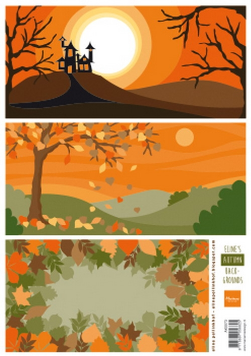 Marianne Design- Knipvel- Eline's autumn backgrounds: AK0073