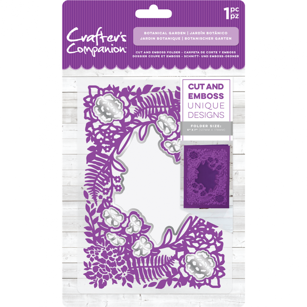 Crafter's Compagnion- Cut and Emboss Folder- Botanical Garden: CC-CEF5-BGA