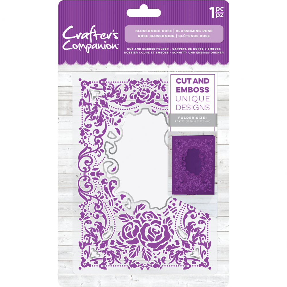 Crafter's Compagnion- Cut and Emboss Folder- Blossoming Rose: CC-CEF5-BLR