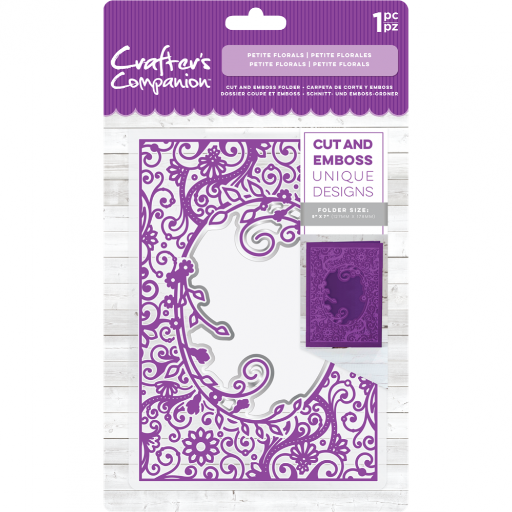 Crafter's Compagnion- Cut and Emboss Folder- Petite Florals: CC-CEF5-PFL