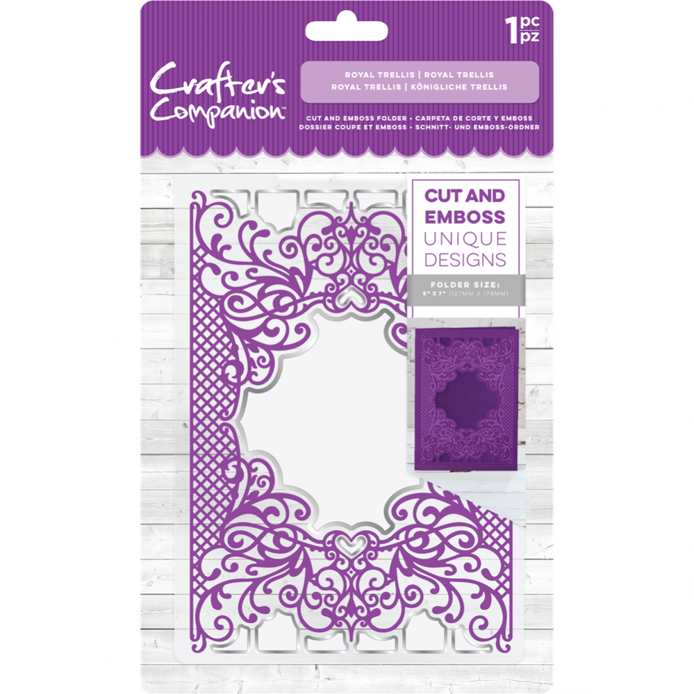 Crafter's Compagnion- Cut and Emboss Folder- Royal Trellis: CC-CEF5-RTR