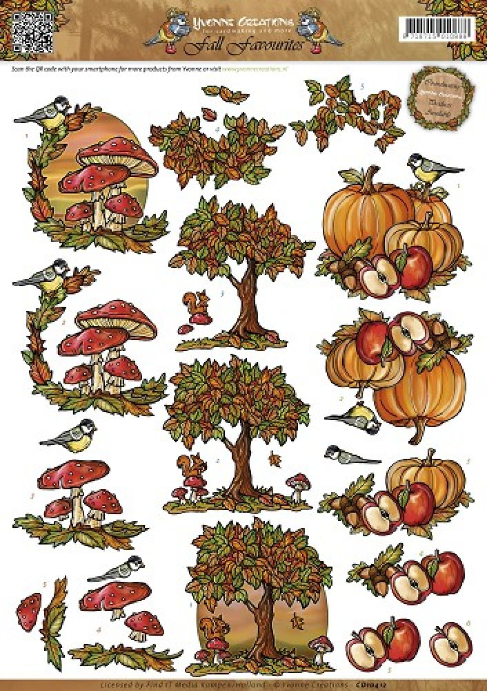 3d knipvel- Yvonne Creations- Fall Favourites- Autumn Scenes: CD10412