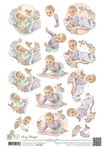 Amy Design- 3d knipvel- Baby Collection- Vintage Baby: CD10684