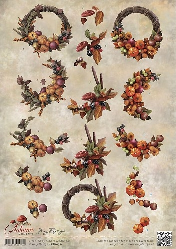 Amy Design- 3d knipvel- Autumn Moments: CD10754
