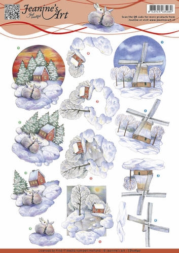Jeanine's Art- 3d knipvel- Winter Landscape : CD10840