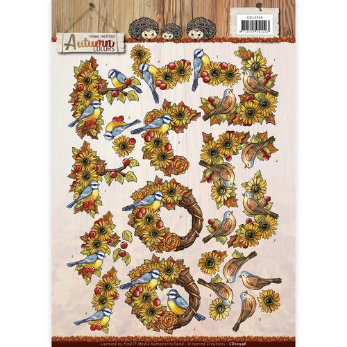Yvonne Creations- 3d knipvel- Autumn Colors- Autumn Birds: CD10948